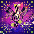Abstract Musical Background With Guitar Player Stock Photo - 27937940