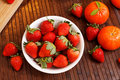 Strawberries And Tangerines Stock Image - 27951381
