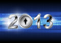 New Year 2013 With Digital Concept Stock Images - 27962174