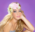 Blond Princess Fashion Girl With Spring Flowers Royalty Free Stock Photos - 27962948