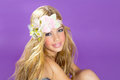 Blond Princess Fashion Girl With Spring Flowers Royalty Free Stock Photography - 27964557
