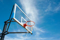 Street Basketball Board With The Blue Sky Royalty Free Stock Photography - 27965247