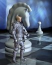 Chess Pieces - The White Knight Royalty Free Stock Photography - 27969357