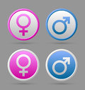Venus And Mars Female And Male Symbols Royalty Free Stock Photos - 27971388