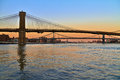 Sunset Colors Over The Bridges Of New York Stock Photography - 27971752