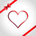 Heart And Ribbon Bow Royalty Free Stock Photos - 27976218