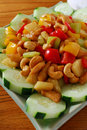 Chicken Cashew Cucumber Royalty Free Stock Photography - 27977037