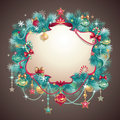 Vintage Christmas Greeting Banner Royalty Free Stock Photos - 27979938
