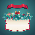 Vintage Christmas Greeting Banner Set Royalty Free Stock Images - 27982299