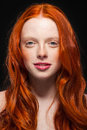 Wavy Red Hair Stock Images - 27992454