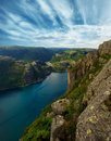 Beautiful Sky Over Fjord Stock Photography - 27994852