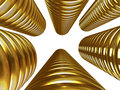 Columns Of Gold Coins Royalty Free Stock Photo - 2807335