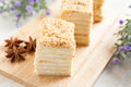 Cake Napoleon Of Puff Pastry With Sour Cream Royalty Free Stock Photo - 28005915