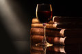 Wine And Books Royalty Free Stock Photo - 28006855