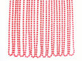 Red Christmas Bead Garland Hanging On White Stock Images - 28007304