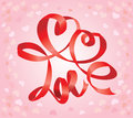 Valentine`s Day Card With Hearts Royalty Free Stock Images - 28007709