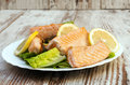 Grilled Salmon Stock Images - 28012974