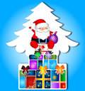 Santa Claus With Christmas Gifts Stock Images - 28015114