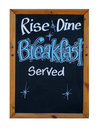 Rise And Dine Breakfast Served Stock Image - 28020631