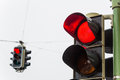 Traffic Light With Red Light Royalty Free Stock Image - 28027306