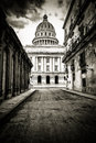 Grungy Black And White Image Of Havana Royalty Free Stock Photography - 28031407