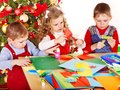 Children  Making Decoration For Christmas. Royalty Free Stock Images - 28031659