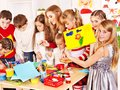 Child Painting At Art School. Royalty Free Stock Images - 28031739