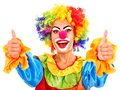 Portrait Of Clown. Royalty Free Stock Images - 28031839