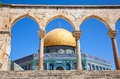 Golden Dome On The Rock Mosque In Jerusalem Royalty Free Stock Image - 28031996