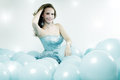 Girl With Balloons Stock Photography - 28032442