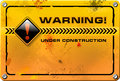 Under Construction, Yellow Grunge Sign Vector Stock Images - 28032934