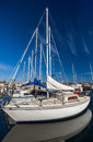 White Yachts On An Anchor Royalty Free Stock Photography - 28034587