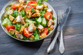 Healthy Salad Made with Fresh Vegetables Stock Photography - 28040612