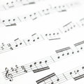 Old Printed Music Sheet Or Score And Musical Notes Stock Photography - 28050312