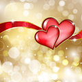 Two Glass Red Hearts Stock Photography - 28056082