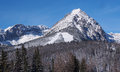 Winter Fields And Peaks Of Rohace Mountains Royalty Free Stock Photography - 28066507