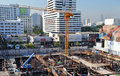 Busy Commercial Construction Site In Bangkok Stock Images - 28070384