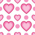 Seamless Dots And Hearts Royalty Free Stock Image - 28071186