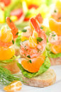 Scampi Skewers Royalty Free Stock Photography - 28075737