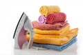 Colorful Towels And Iron Stock Photography - 28077462