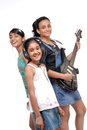 Indian Children Music Band Royalty Free Stock Photo - 28082885