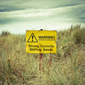 Beach Warning Sign Stock Photography - 28082962