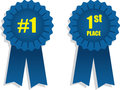 Ribbon 1st Place Royalty Free Stock Photography - 28083707