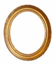 Oval Gold Picture Frame Royalty Free Stock Photography - 28084467