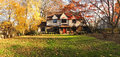 Family House With Front Lawn - Panorama Stock Photo - 28092360