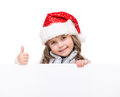 Cheerful Girl Holding White Board Stock Images - 28092624