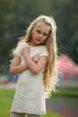 Beautiful Blonde Girl With Long Hair Royalty Free Stock Images - 28098679