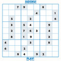 Incomplete Sudoku Puzzle Royalty Free Stock Image - 2816136