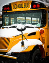 Snow Day School Bus Stock Images - 28107984
