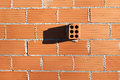Wall With Isolated Brick Stock Photo - 28112650